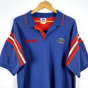 Gators Florida Striped Jersey Polo Button Shirt